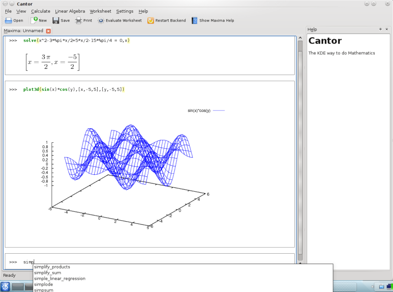 Proposal submitted to GSoC: Support Scilab in Cantor at